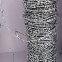 单股带刺铁线 PVC包塑铁蒺藜 刺绳柱批发