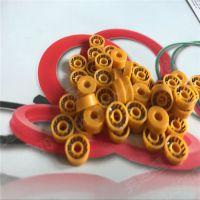 上海泛塞封制品工厂 Omniseal弹簧蓄能密封圈设计定制 黄色UPE耐磨损密封圈