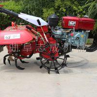 志成农用小型柴油微耕机 后悬式果园除草机 蔬菜地除草松土机