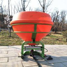 轴传动后置撒肥机价格 大面积农田底肥抛洒机 悬挂式撒肥机生产厂家