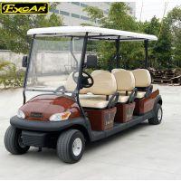 卓越 牌新能源紅褐色6座觀光A1S6|電動車四輪高爾夫球車|景區旅游電瓶車
