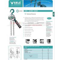 美国ABLE艾培尔LB250微型mini手板葫芦0.25T