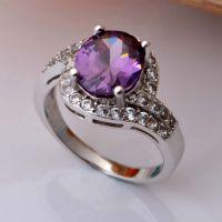 润培 精美镶嵌锆石女士戒指 专业生产首饰厂家可来样定制