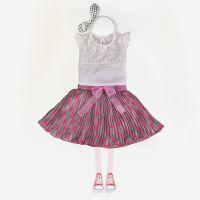2017童装新款夏季女童套装中大童花边蕾丝雪纺裙两件套一件代发