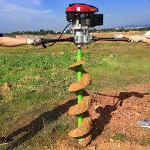 大庆市单人操作果园施肥打眼机 启航牌大棚立柱钻坑机 园林绿化挖窝机生产厂家