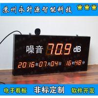 苏州永升源厂家定做工业噪音时钟显示屏 电子看板 环境粉尘 车间温湿度甲醛二氧化碳