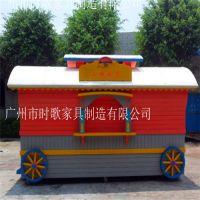 户外防腐木售货亭 木屋售货车 移动木质奶茶屋 景区小木屋售卖亭