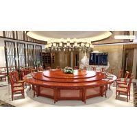 千嘉家具实木电动餐桌火锅桌新中式酒店家具简约轻奢风