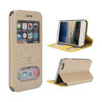 新款创意iPhone8手机保护套 苹果5.5寸可视窗翻盖式手机壳 OEM定制