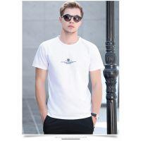 供应河南夏季新款短袖T恤男士圆领青年运动休闲半袖体恤潮流莫代尔打底衫