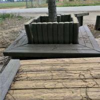 出售绿化工程水泥仿木大花箱 家庭园艺花桶花盆 田园风格仿木盆栽 花箱