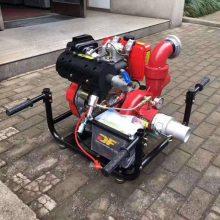 移动式自吸汽油机抽水泵 柴油机电启动消防泵