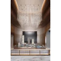 售楼部LED吊灯展厅立方体造型灯大型不锈钢非标工程灯酒店大堂吊灯定制直接工厂铭星灯饰