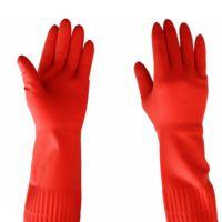 西安 红玫瑰乳胶手套 38cm 40cm加长加厚耐酸碱防油劳保防护手套 韩国热卖 防冻0.1
