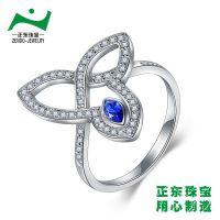 广州正东珠宝纯银首饰加工厂 925纯银镀白金项链钥匙加工 微镶镶嵌工艺