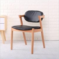 倍斯特热销创意chiar北欧实木原木色餐椅咖啡厅餐厅甜品店设计师休闲椅子厂家定制