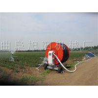 生产直销水稻自走浇水机旭阳农用卷管式灌溉机水涡轮驱动喷灌机