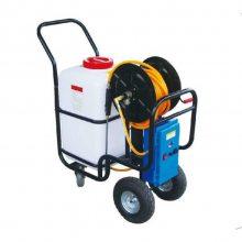 厂家直供小型四轮电动打药机 60升容量高压远程喷雾 家用鸡舍猪圈消毒用
