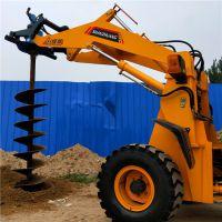 电线杆挖坑机器价钱 电力施工必备 装载机式电杆打洞机myj