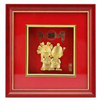 实木 金箔画/绒沙金专用 立体装饰画框 喜庆大气 商务礼品工艺品收藏框