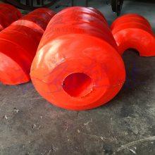疏浚管道浮体直径400*500 通孔110mm塑料疏浚浮筒