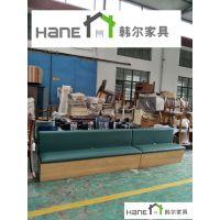 上海茶餐厅HL-17卡座沙发咖啡厅西餐厅卡座沙发可定制 韩尔品牌