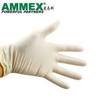 AMMEX/爱马斯一次性乳胶手套TLFC标准型无粉掌麻天然橡胶手套