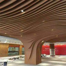 上海弧形木纹方通天花艺术吊顶厂家方通批发-欧百得