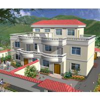 赣州市别墅设计AT220新农村三层兄弟双拼别墅设计施工图纸 18m×11m