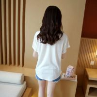 夏季大码女装短袖T恤宽松半袖上衣服少女姐妹小清新中学生便宜潮