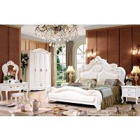 江西珍园家具有限公司联圆牧歌实木床橡木床欧式床中式风格婚床大床家具批发南康