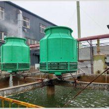 文安30吨逆流式冷却塔玻璃钢腿的设备降温凉水塔【华强】