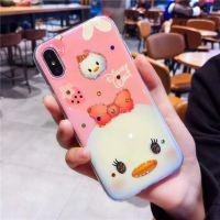 卡通迪士尼情侣款iPhone6/7/8/X手机壳超薄IMD软壳光面带挂绳吊饰