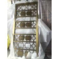 不锈钢玫瑰金屏风 钛金花格 镜面镂空玄关厂家