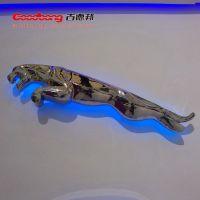 捷豹亚克力吸塑车标 户外立体发光标志 ABS贴膜车标制作厂家 免费安装