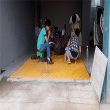 洗车位沟盖板 水沟网格栅 聚酯网格