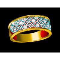 银镶嵌锆石戒指 女批发 一个金戒指多少克 —纯银饰品加工厂家