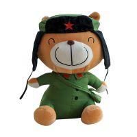 25厘米军装熊毛绒玩具 泰迪熊毛绒公仔 卡通娃娃玩偶定制定做