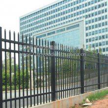 围墙栏杆栅栏 工厂锌钢护栏 蓝白 全黑方管围墙栅栏多钱一米
