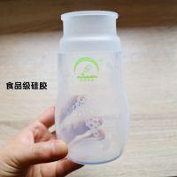 防摔耐高温硅胶奶瓶防滑防震防胀气新生婴幼儿宝宝母婴用品宽口径
