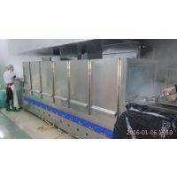 供应安然中央厨房设备 全自动燃气洗碗机 洗箱机