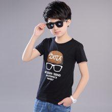 外贸出口品牌童装纯棉T恤 越南胡志明市女童纯棉夏季新品娃娃领T恤