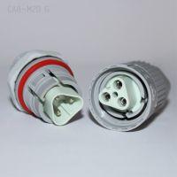 线对板公母对接插头防水连接器防水盒接头三芯防水接线器防尘防雾