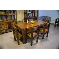 厂家直销老船木家具批发实木餐桌餐厅吃饭桌长方形餐桌圆形餐桌