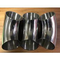 三水304不锈钢配件厂直销卫生级弯头 φ76*2