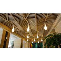 u型木纹铝方通吊顶造型 济南铝方通价格咨询