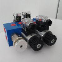 YT夹木器电磁阀组片式电磁多路阀抓木器阀组带操作手柄