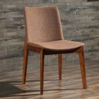 众美德供应餐饮店餐椅,铁架皮革软包椅子高端原木餐椅,餐厅饭店椅子定做