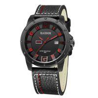 瑞度士(RAIDOX)手表 42mm黑边黑盘黑表带 时尚休闲手表 888157 新款