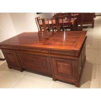 昆明红木办公家具批发 刺猬紫檀红木2米办公桌报价 名琢世家
